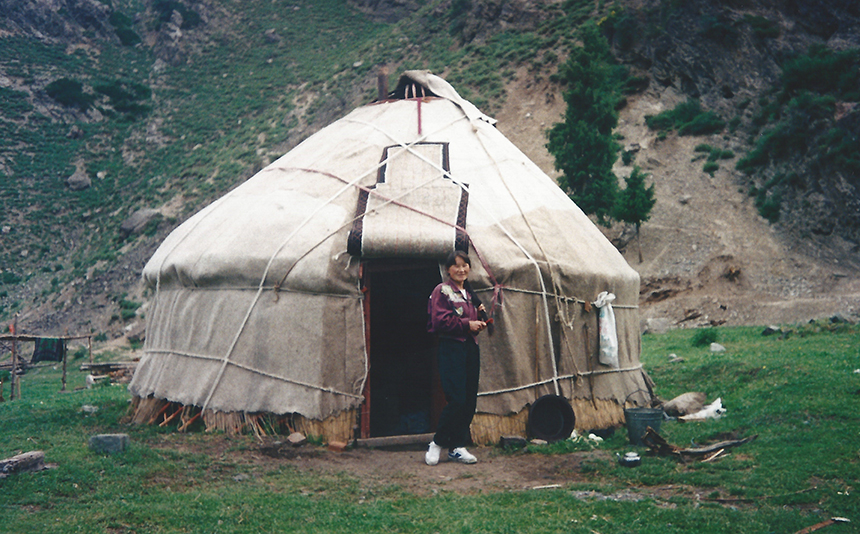 The yurt where Hackett spent a night with Kazakh family