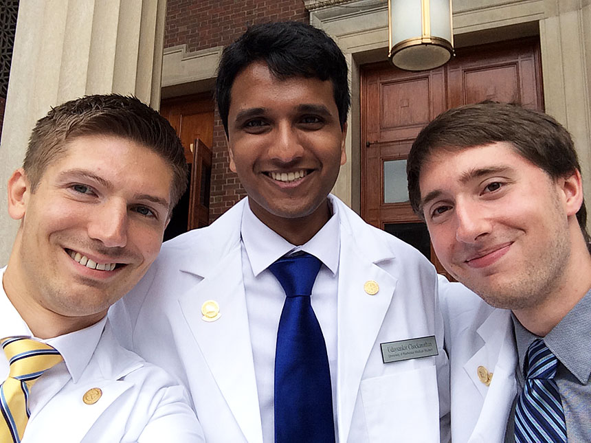 daniel savage and fellow medical students