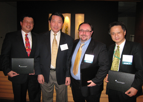 (left to Right) Dr. Wang, Prof. Wu, Prof. Mantalaris, & Prof. Sakai
