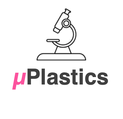 """Team logo, depicting a microscope and the team name: """"The µPlastics""""."""
